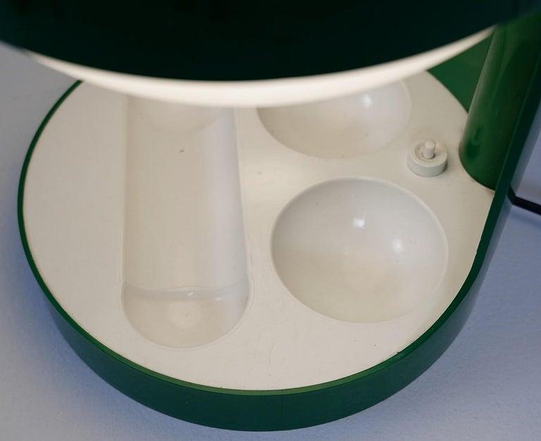 European Green Joe Colombo Table Lamp Model KD29, Kartell, 1967