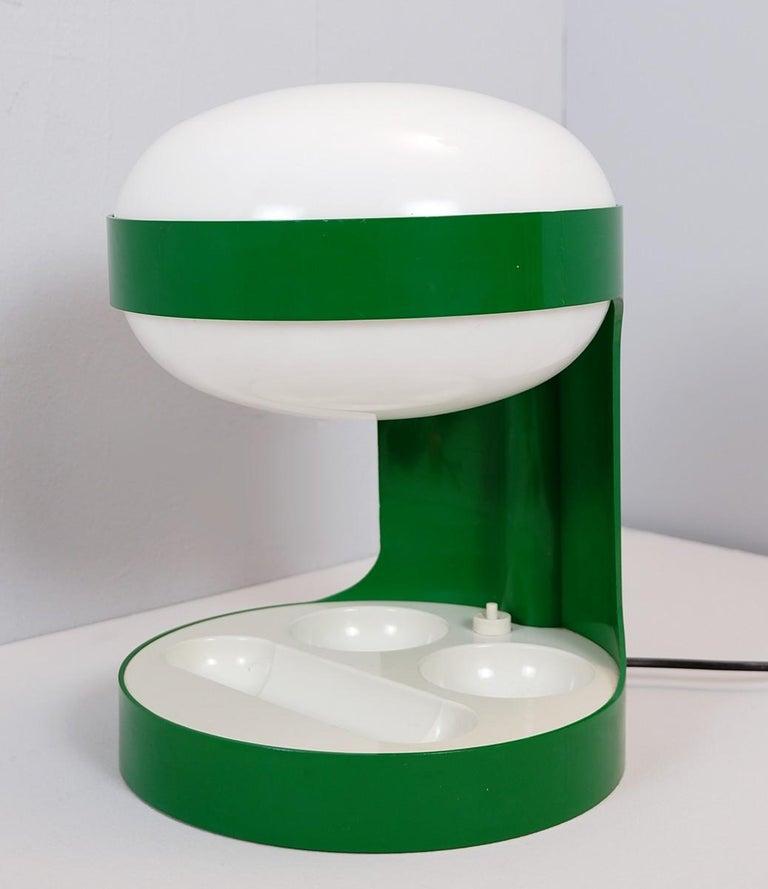 Green Joe Colombo Table Lamp Model KD29, Kartell, 1967 In Good Condition In Brussels, BE