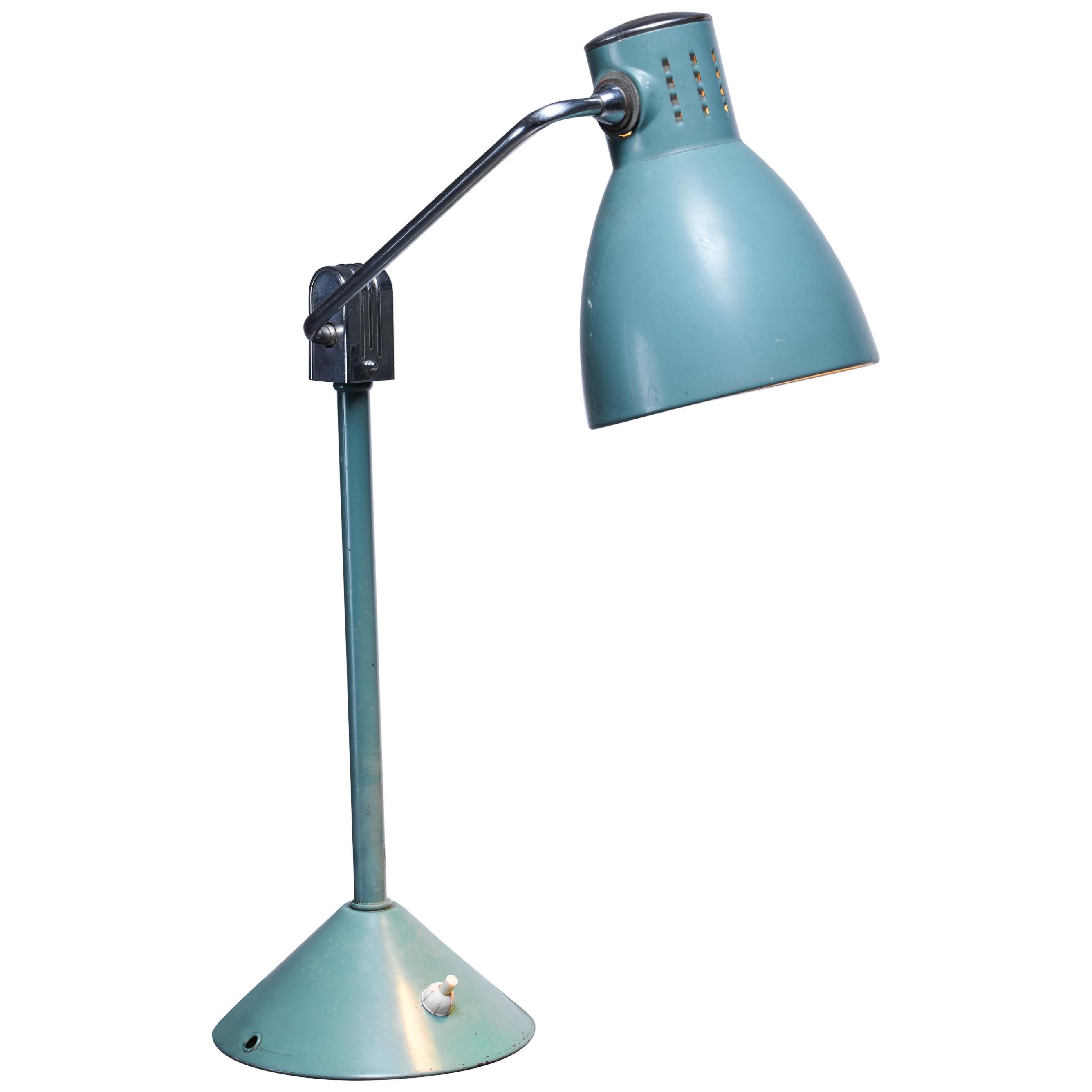 Green Jumo Table Lamp, France, 1940s