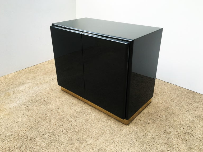 American Green Lacquered Cabinets or Nightstands by Milo Baughman for Thayer Coggin For Sale