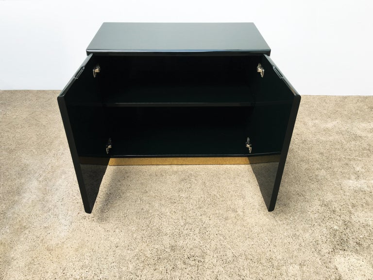 Green Lacquered Cabinets or Nightstands by Milo Baughman for Thayer Coggin For Sale 1
