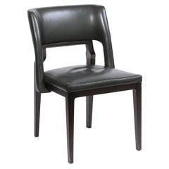 Green Leather - Modern Desk Chair