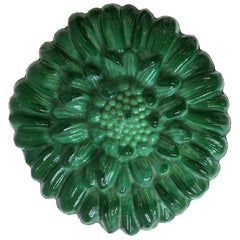 Green Malachite Bohemian Glass Round Box