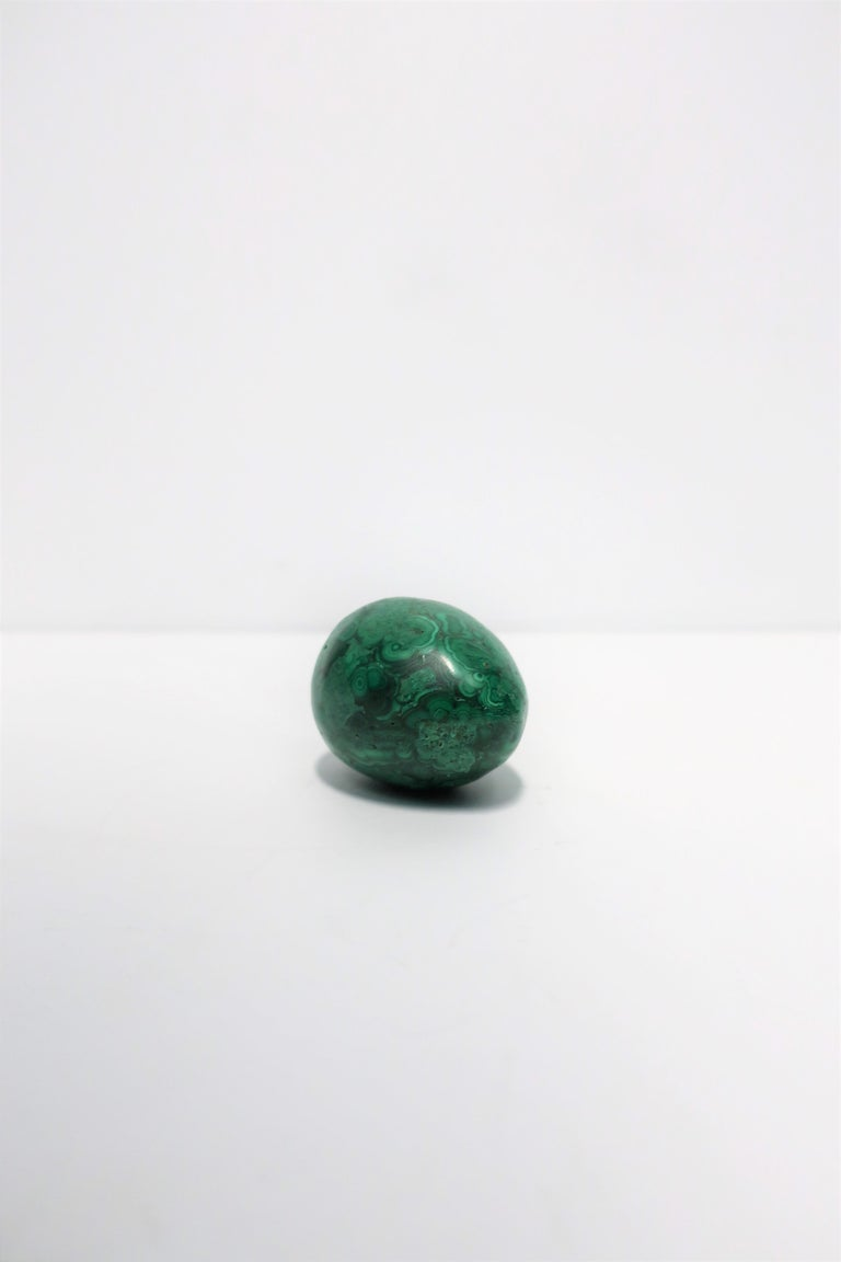 Polished Green Malachite Sculpture Decorative Object For Sale