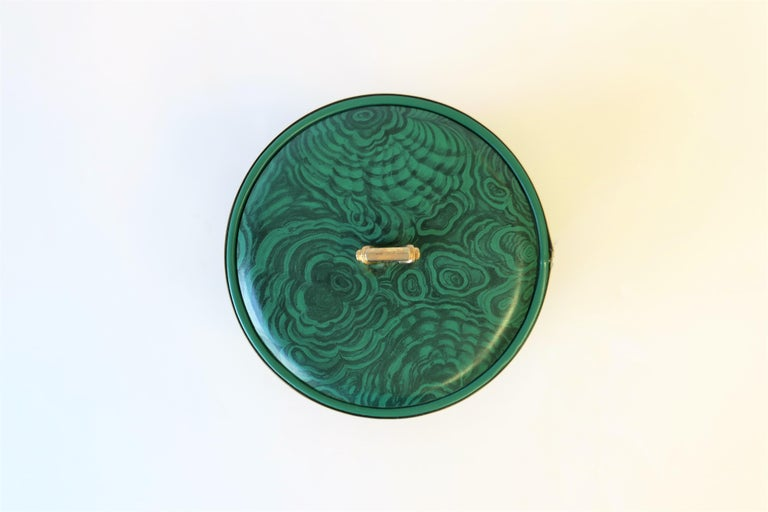 Metal Green Malachite Style Ice Bucket by Georges Briard, circa 1970s For Sale