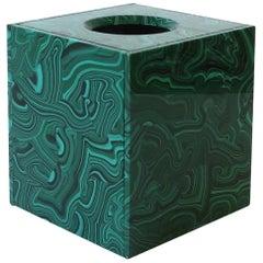 Green Malachite Style Tissue Box Holder Cover