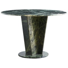 Green Marble Dining Table, Angle Base
