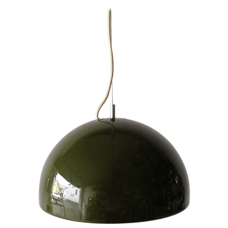 Green Metal Pendant Lamp by Reggiani Goffredo, 1960s, Italy