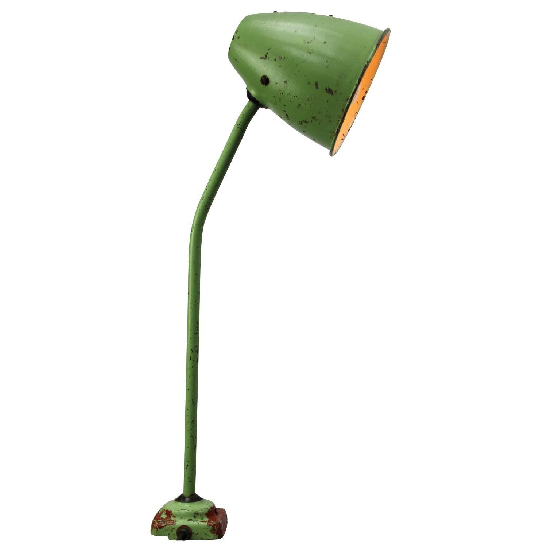 Green Metal Vintage Industrial Work Light Table Desk Light