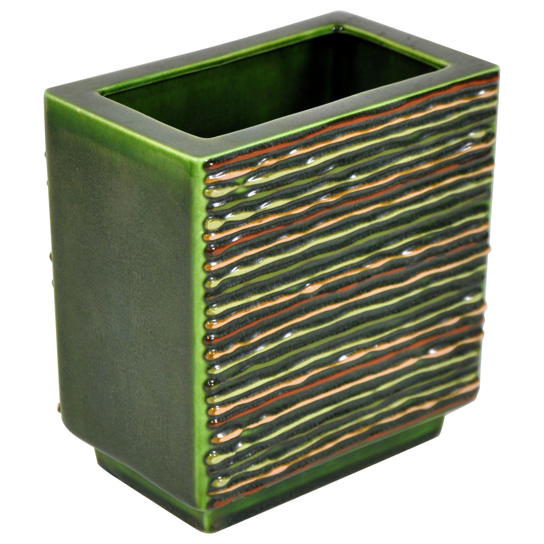 Green Midcentury California Pottery Vase