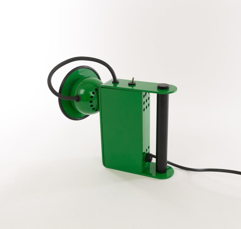 Italian Green Minibox Table Lamp by Gae Aulenti & Piero Castiglioni for Stilnovo, 1980s For Sale