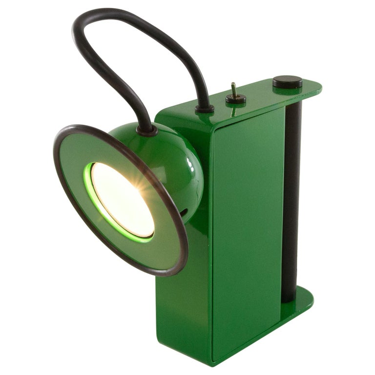 Green Minibox Table Lamp by Gae Aulenti & Piero Castiglioni for Stilnovo, 1980s For Sale