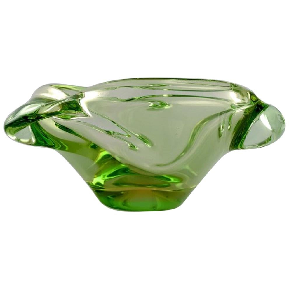 Green Murano Bowl in Mouth Blown Art Glass, 1960s
