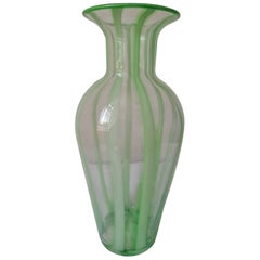 Green Murano Glass Vase