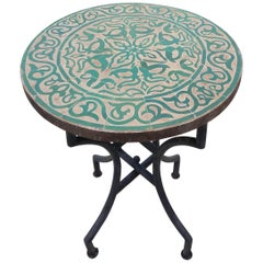 Green / Natural Moroccan Mosaic Table, Tawrik