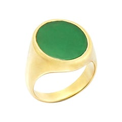 Susan Lister Locke The Green Onyx Signet Ring in 18 Karat Gold