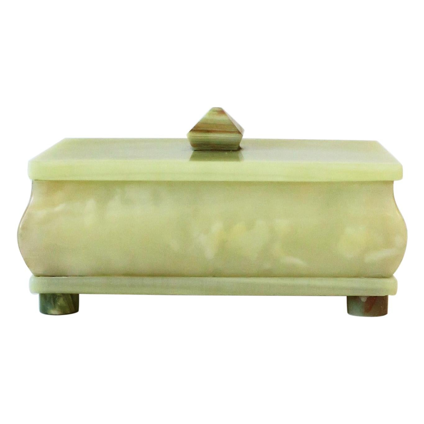 Green Onyx Marble Decorative or Jewelry Box