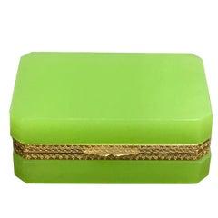 Green Opaline Ormolu-Mounted Box