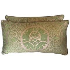 Green Orsini Fortuny Lumbar Pillows, Pair