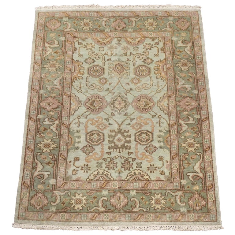 Green Oushak Area Rug For Sale At 1stdibs