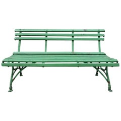 Green Outdoor Bench Arras, France, 1880-1900