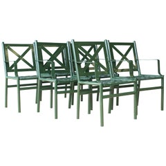 Green Outdoor Metal Patio Chairs, 16 Available