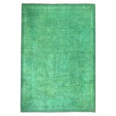 Green OverDyed Turkish Rug