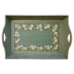 Green Painted Antique Tray, Tyrol, 1880