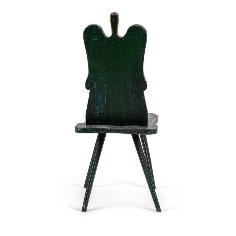 Green Painted Swedish Folk Art Chair 1