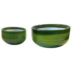 Green Palet Snack and Salat Bowl by Michael Bang for Holmegaard, 1970s