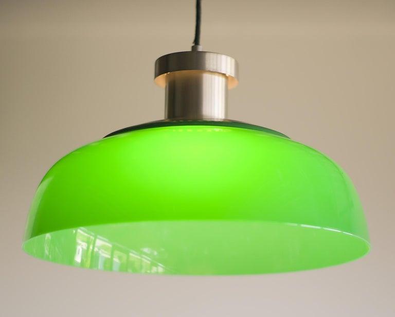 Mid-Century Modern Green Pendant Lamp 4017 Designed by Achille Castiglioni for Kartell For Sale