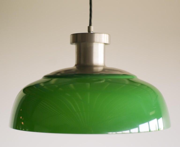 Italian Green Pendant Lamp 4017 Designed by Achille Castiglioni for Kartell For Sale