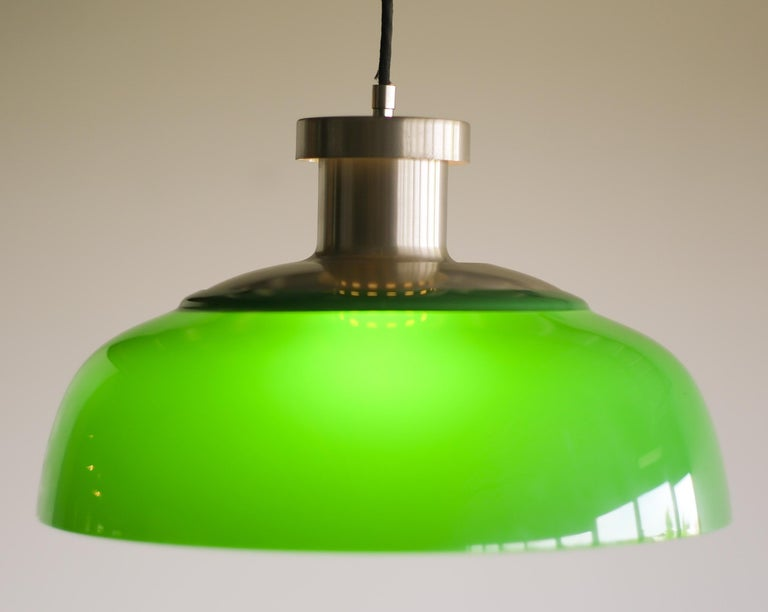Green Pendant Lamp 4017 Designed by Achille Castiglioni for Kartell In Good Condition For Sale In Dronten, NL