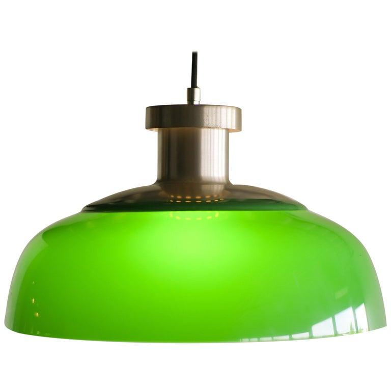 Green Pendant Lamp 4017 Designed by Achille Castiglioni for Kartell For Sale