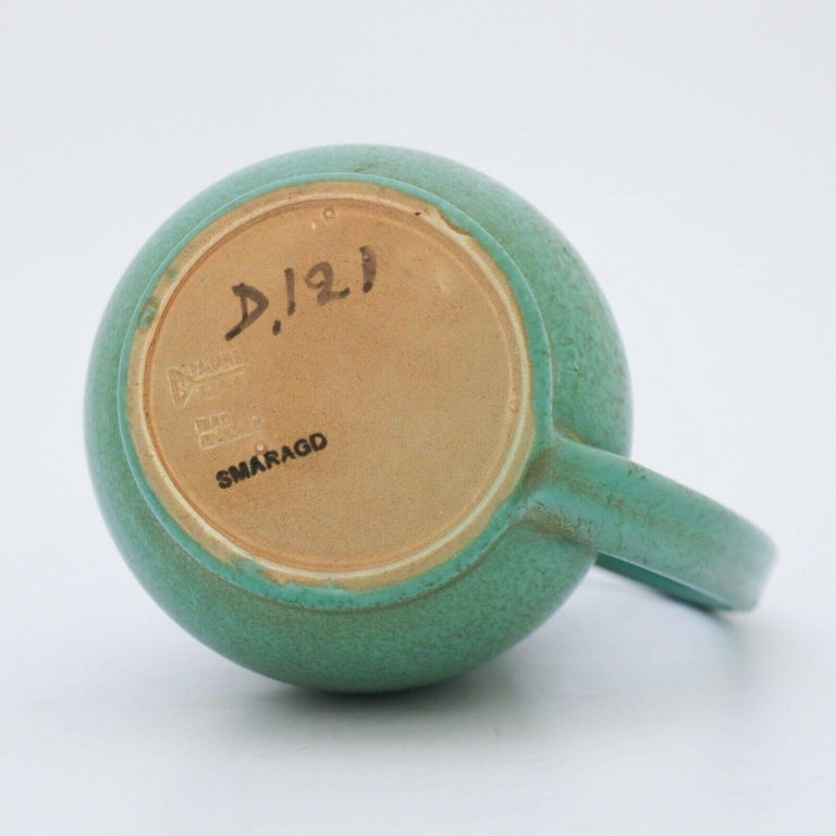 Glazed Green Pitcher ceramics Ewald Dahlskog 1930s, Bo Fajans, Sweden For Sale