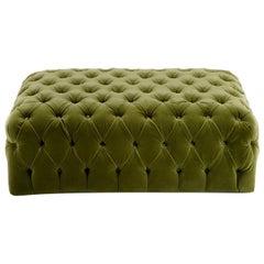 Green Rectangular Capitonnè Pouf