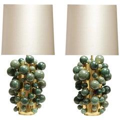 Green Rock Crystal Bubble Lamp by Phoenix