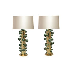 Green Rock Crystal Bubble Lamps by Phoenix