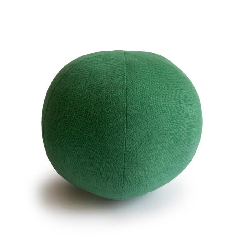 Modern Green Round Ball Throw Pillow For Sale