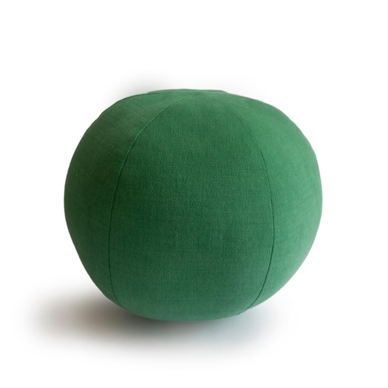 American Green Round Ball Throw Pillow For Sale