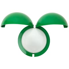 Green Sconces Fontana Arte Lampira Lady Bug 1970s Light