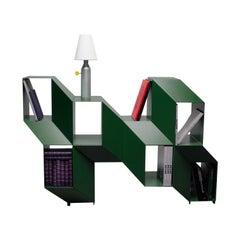 "Green Sculptural ""Rocky"" Credenza, Charles Kalpakian"