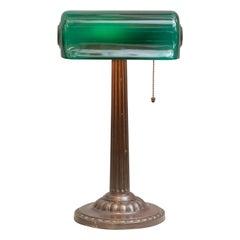 "Green Shade ""Banker's Desk Lamp"" by Verdelite, circa 1915"