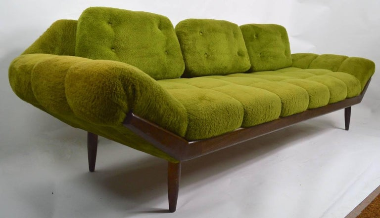 Green Shag Sofa at 1stdibs