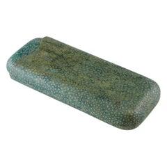 Green Shagreen Cigar Case, circa 1920