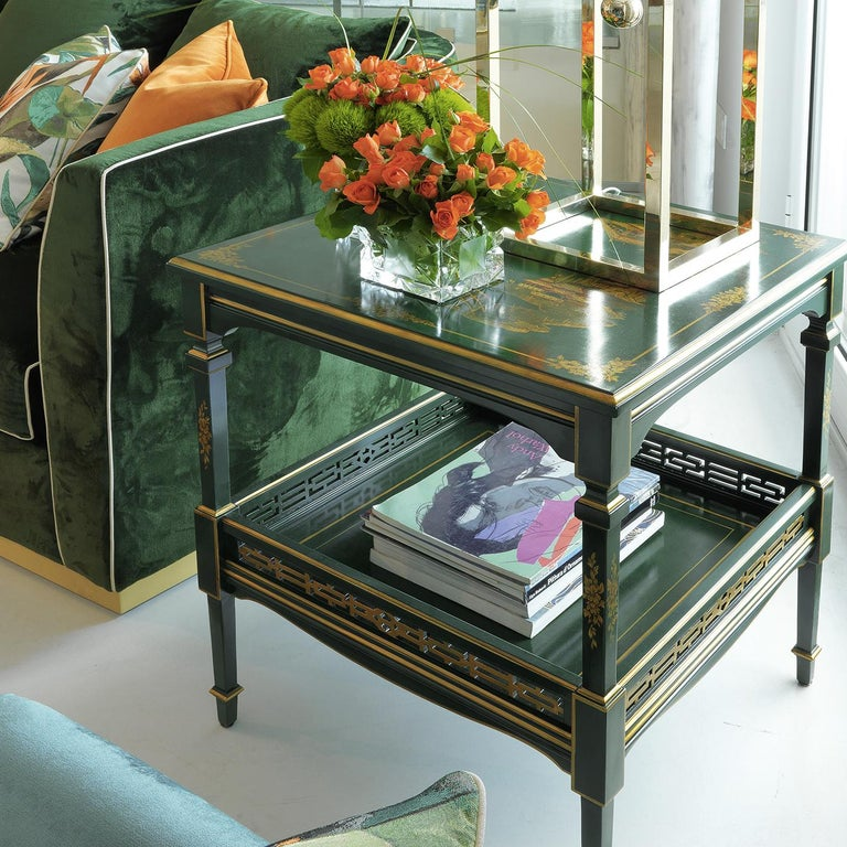 Italian Green Side Table For Sale