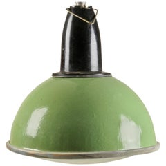 Green Soviet Factory, Industrial Pendant Lamp