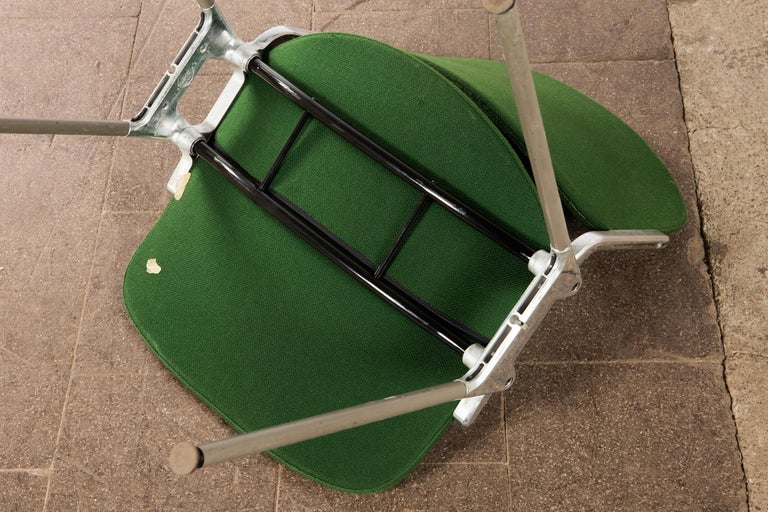 Green Stackable Chairs by Giancarlo Piretti for Castelli For Sale 3