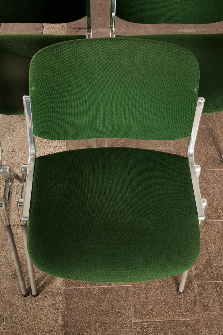 Green Stackable Chairs by Giancarlo Piretti for Castelli For Sale 6