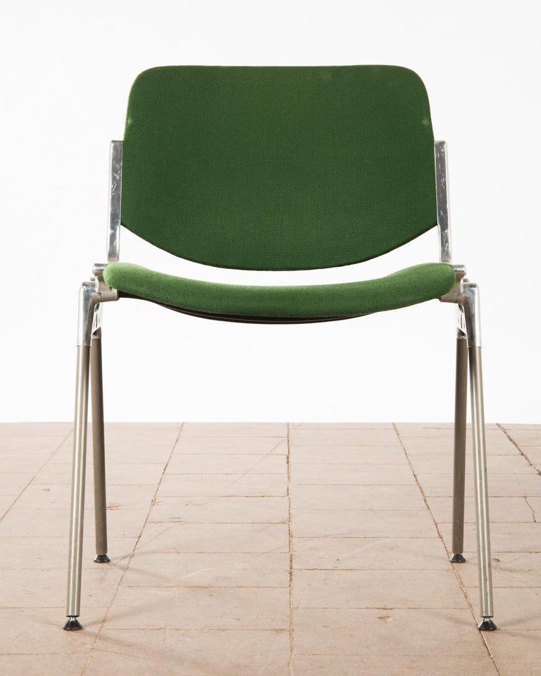 Green Stackable Chairs by Giancarlo Piretti for Castelli For Sale 1